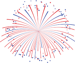 Red White And Blue Fireworks Png - Clip Art Library
