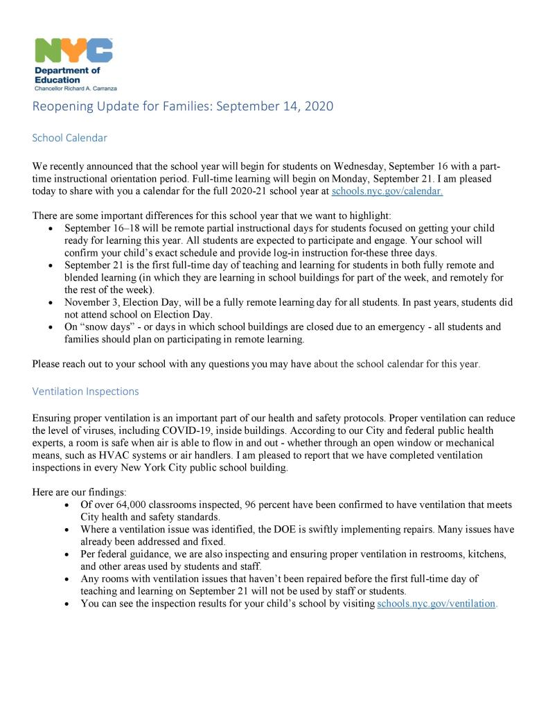 COVID-19 Septeber 14 update page 2